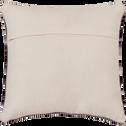 Coussin laine et coton - écru et noir 45x45cm-YOUSS
