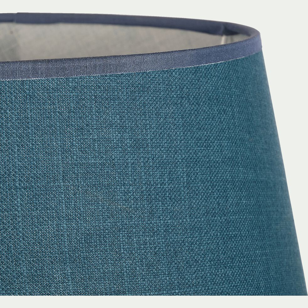 Abat-jour tambour en coton - D33cm bleu figuerolles-MISTRAL