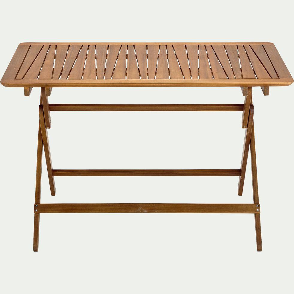 Table de jardin pliante en acacia huilée - naturel (4 à 6 places)-CARLO