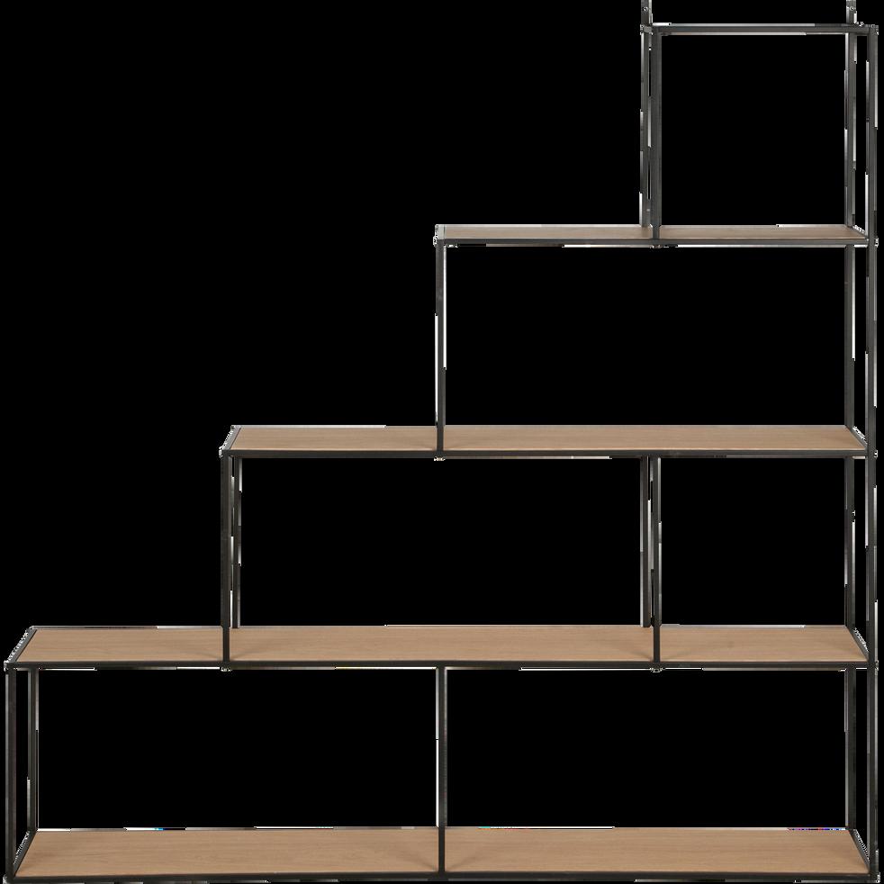 tag re escalier en acier et placage ch ne cesarine. Black Bedroom Furniture Sets. Home Design Ideas