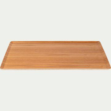 Plateau en bois clair 36cm-SEGUR