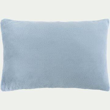 Housse de coussin effet polaire en polyester - bleu calaluna 40x60cm-ROBIN