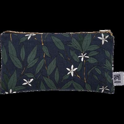 Pochette en coton fleur d'oranger-ORANGER