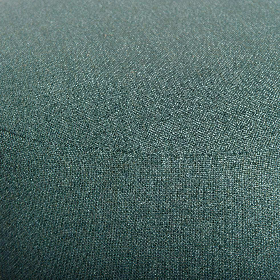 Pouf en tissu - bleu canard-PLUME