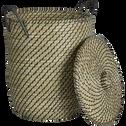 Panier à linge en jonc naturel D42xH48cm-ALBERT