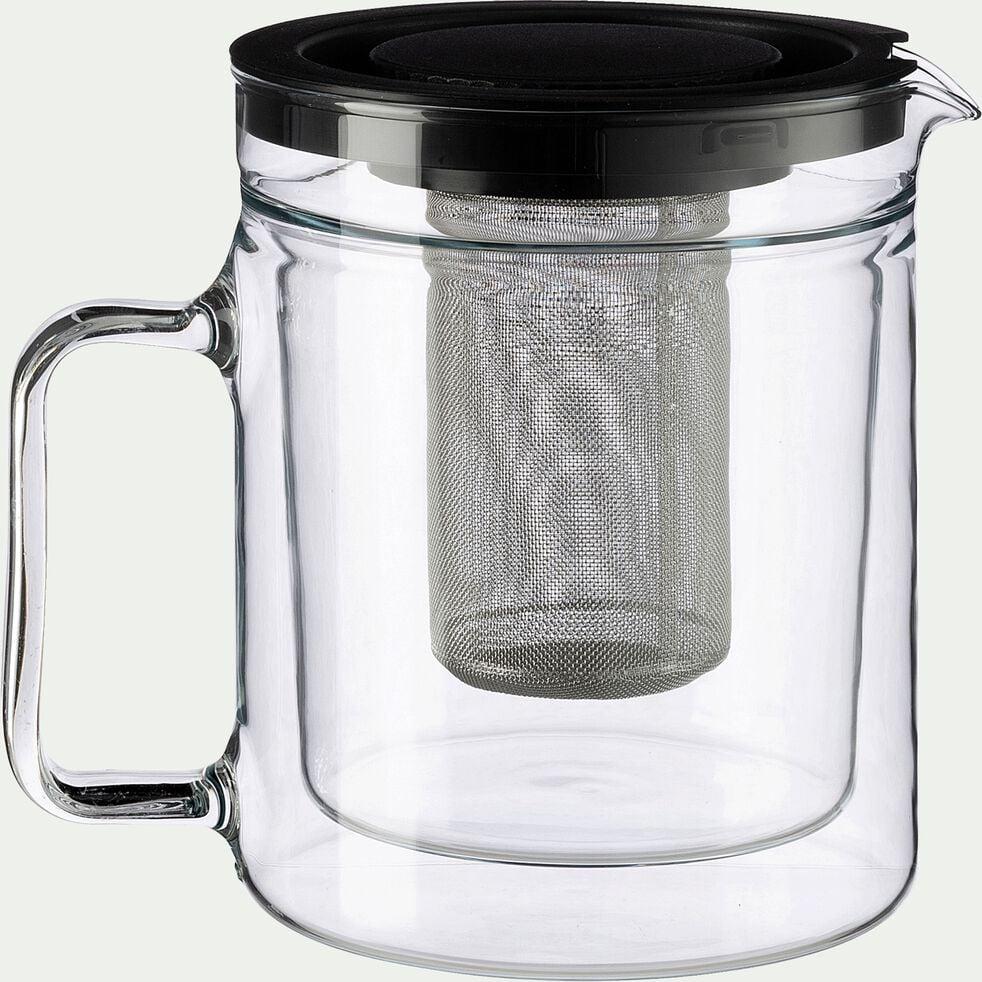 Théière en verre transparent 1,1L-ALCENE