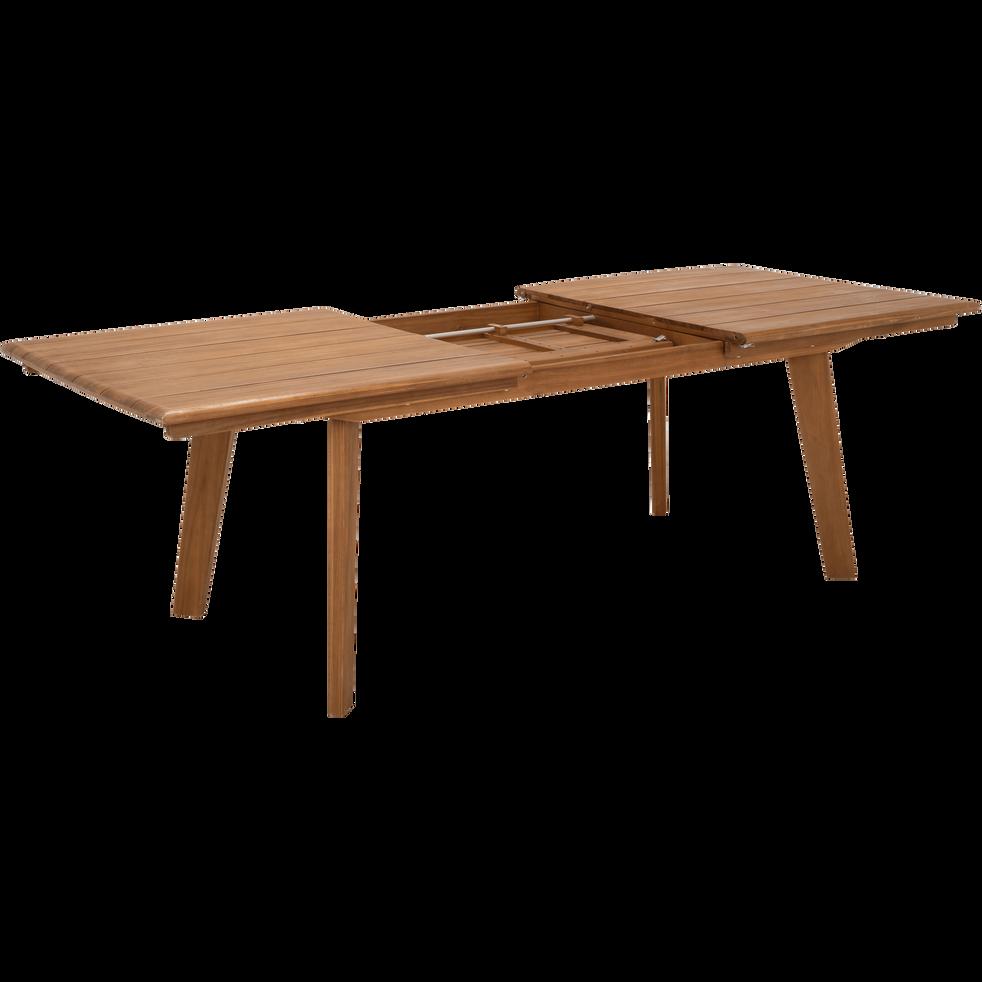 table de jardin extensible en acacia 6 à 10 places