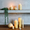 4 bougies votives beige estérel-HALBA