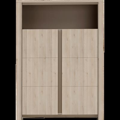 Vaisselier 2 portes et 1 niche coloris bois blanchi-SHA PIN
