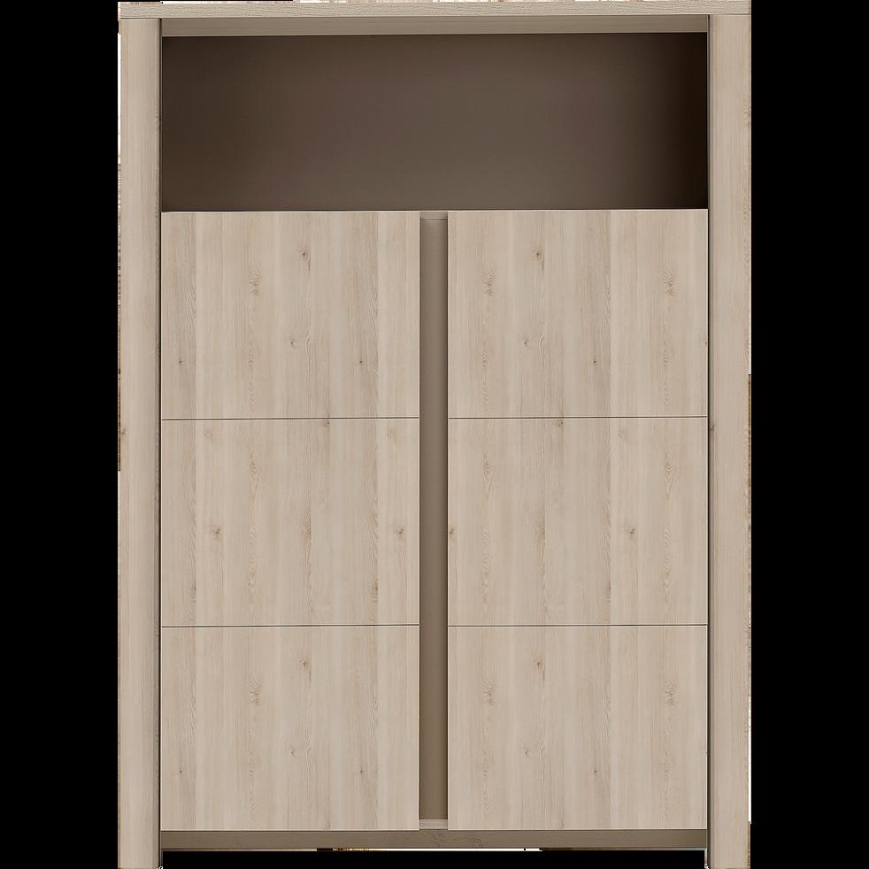 vaisselier 2 portes et 1 niche coloris bois blanchi - sha pin