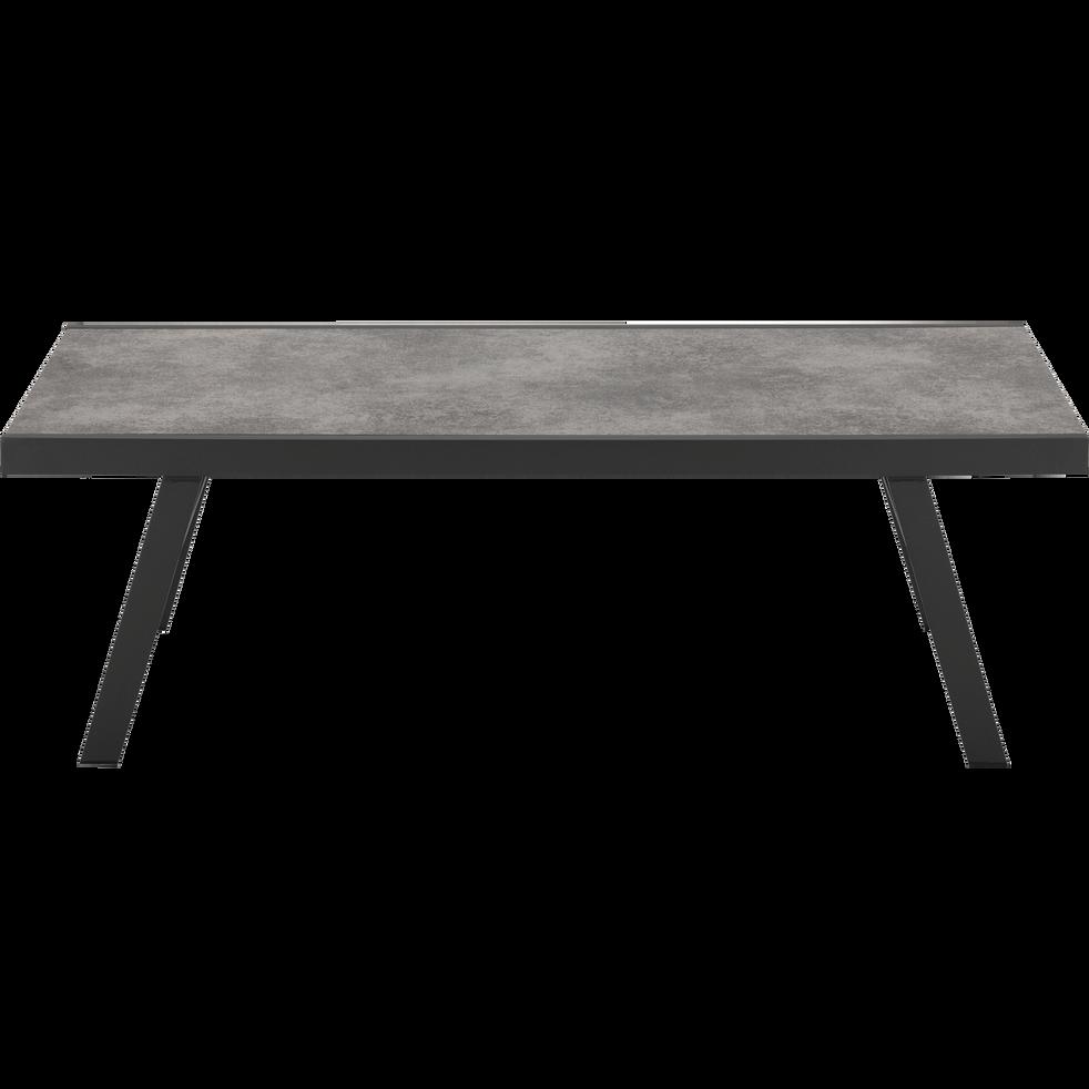 VERCEIA - Table d\'appoint de jardin en aluminium et céramique