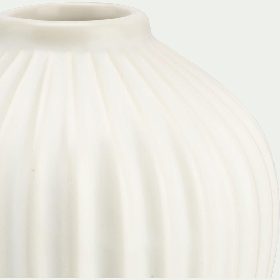 Vase en grès blanc H12cm-Delos