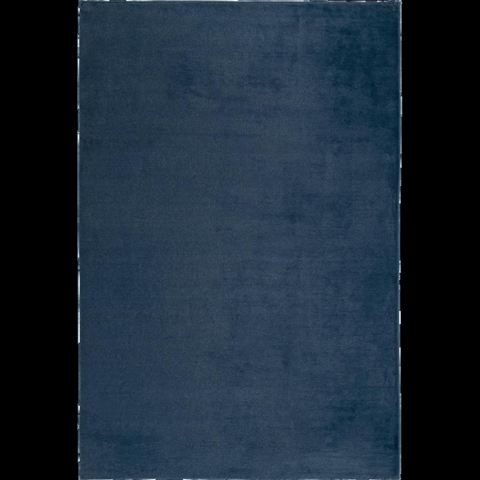 Tapis imitation fourrure bleu figuerolles-ROBIN