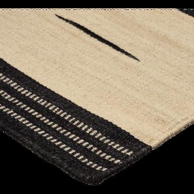 Tapis en laine et coton beige 160x230cm-LOAN