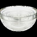 Saladier en verre transparent D29cm-VELLY