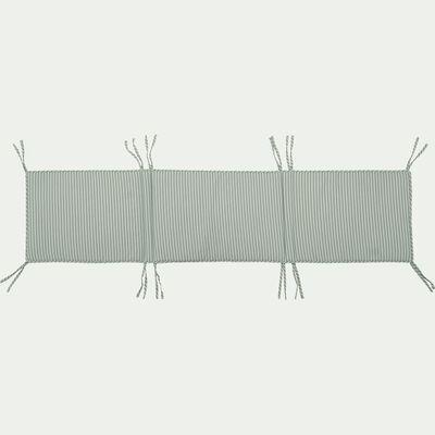Tour de lit bébé en coton bio avec imprimé - rayé vert-Aquastripe
