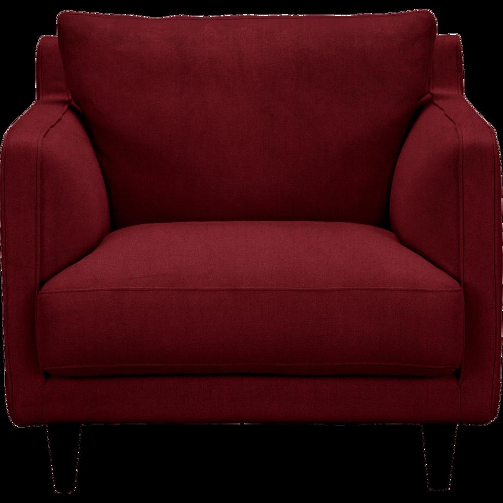 fauteuil en velours rouge sumac lenita la s lection velours alinea. Black Bedroom Furniture Sets. Home Design Ideas