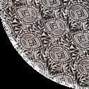 Assiette plate en grès noir décoré D26cm-AMANDE