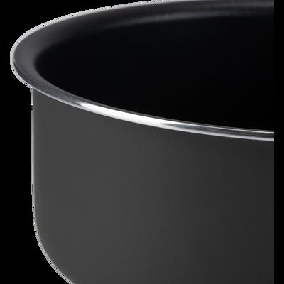 Casserole en aluminium noir D16cm-SOU