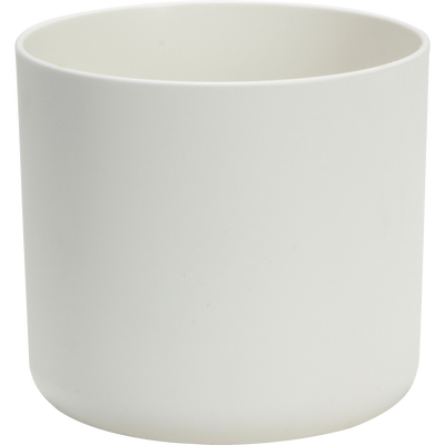 Cache-pot blanc en plastique H12,5xD14cm-B FOR