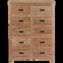 Meuble à 10 tiroirs en teck massif  - Livré monté-Emotion
