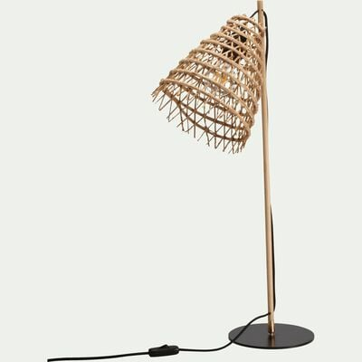Lampe fait main en fibre de palmier H69cm-ORIA