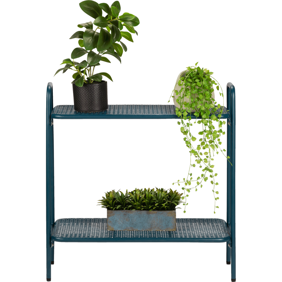 Support plante en acier bleu figuerolles L65xH64,5x29cm-ERBA