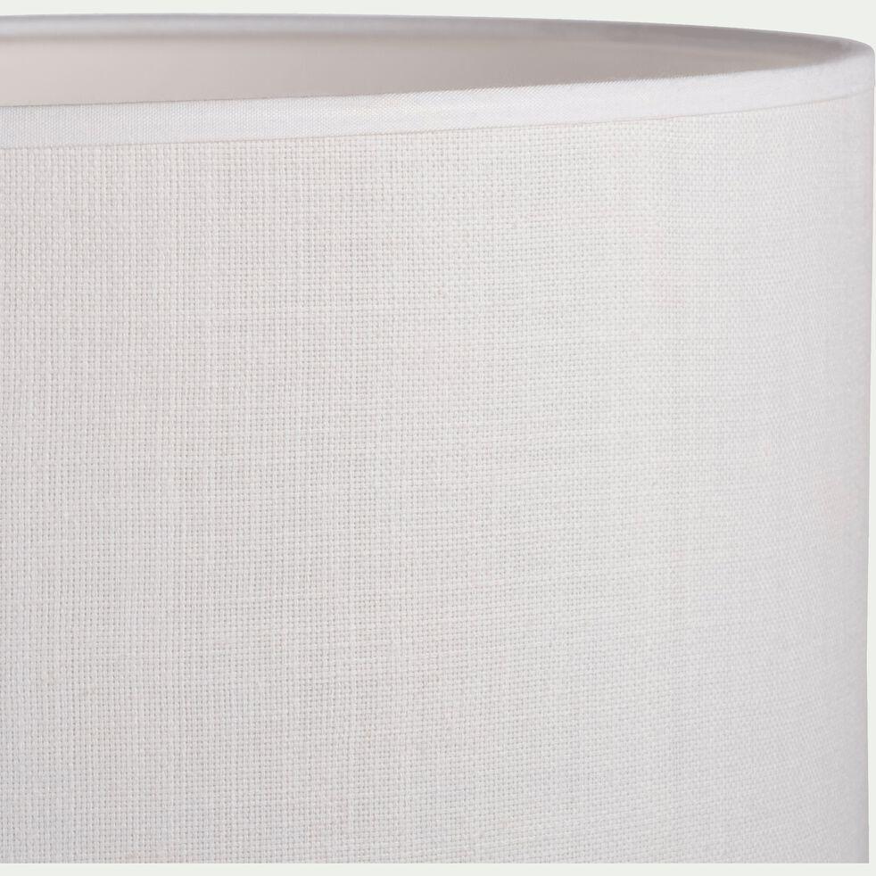 Abat-jour en tissu - D30cm blanc capelan-MISTRAL