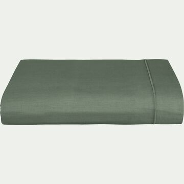 Drap plat en coton - vert cèdre 270x300cm-CALANQUES