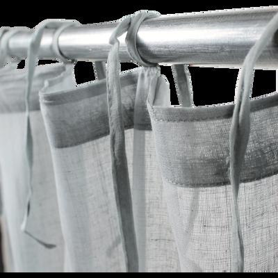 Voilage à nouettes en coton gris 105x250cm-LOLA