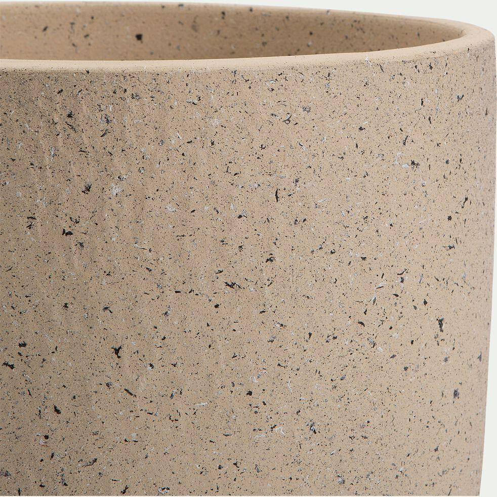 Pot en terre cuite - H12xD14cm blanc cassé-PENTA