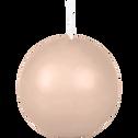 Bougie ronde rose grège D6cm-HALBA