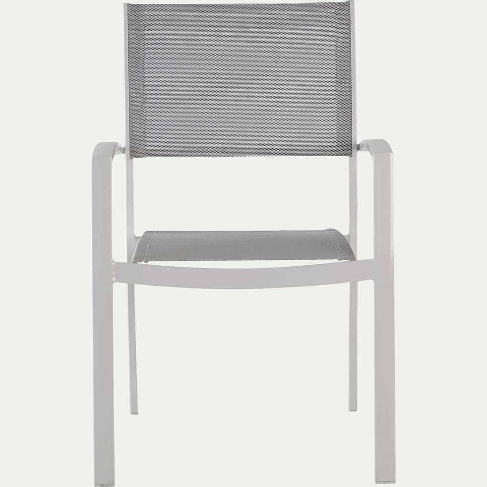 Fauteuil de jardin empilable gris en polyester-SOLANA