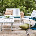 Table basse de jardin blanche en aluminium-PARADOU
