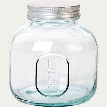 Bocal en verre recyclé avec bouchon 350G-STORAGE