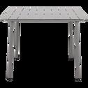 Table de jardin gris restanque en aluminium (2 à 4 places)-CENOZA