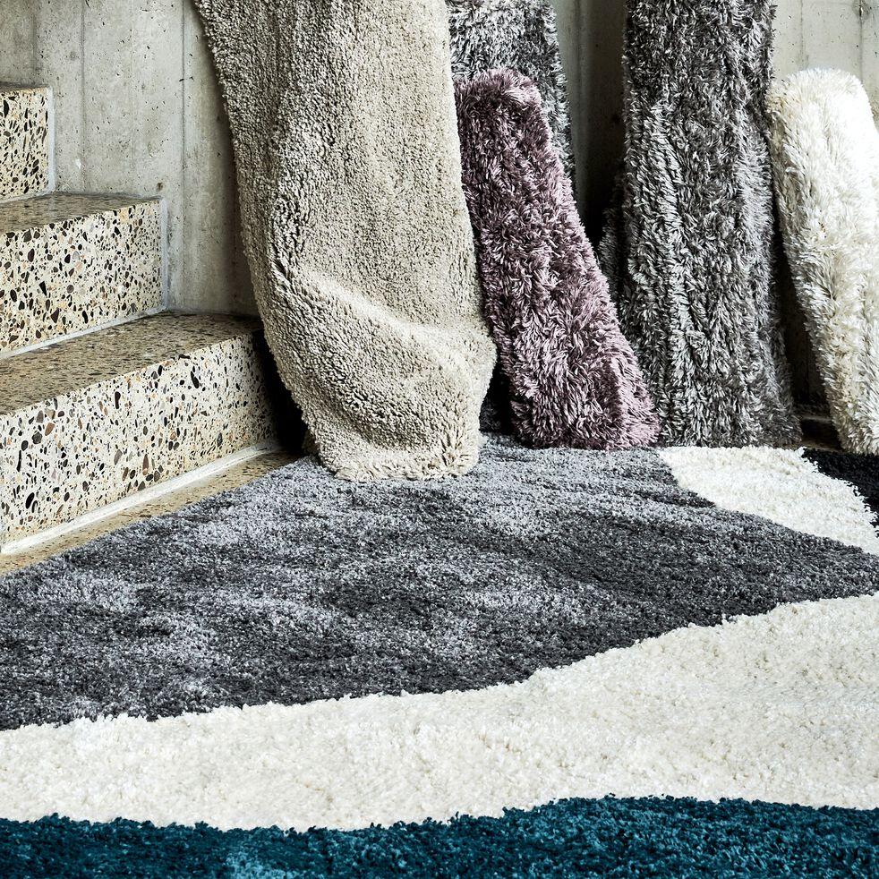 Tapis laineux à motif abstrait - bleu 160x230cm-TUPPO