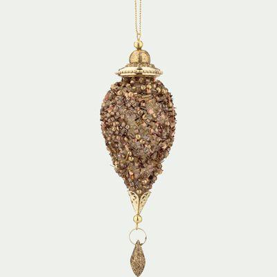 Décoration à suspendre dorée H16,5cm-AIDA