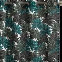 Rideau à imprimé feuillage vert 140x250cm-CORINTHE