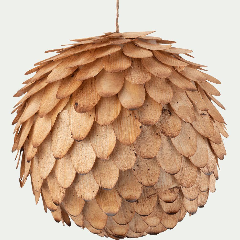 Boule de Noël en bois - naturel D11,5cm-OLIVESE