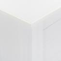 Meuble de rangement en pin massif blanc-LISON