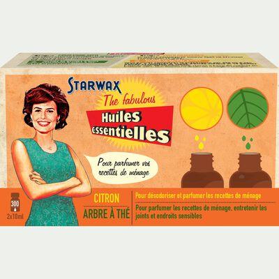 Coffret de 2 huiles essentielles citron et tea tree-FABULOUS
