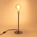Pied de lampe en métal vert cèdre H41cm-OLIVIO