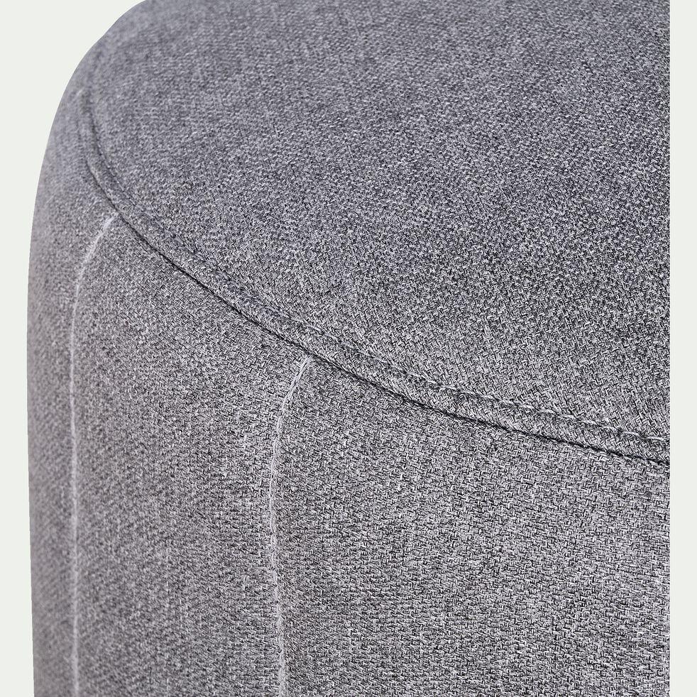 Pouf rond d60cm - gris clair-SHELL