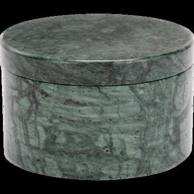 Boîte de rangement en marbre D9xH6cm-MYRTE