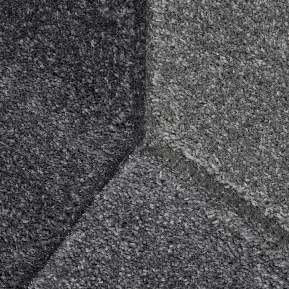 Tapis creusé à la main style contemporain gris 120x170 cm-MARION