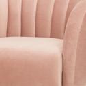 Fauteuil en velours rose grège-ALCEA