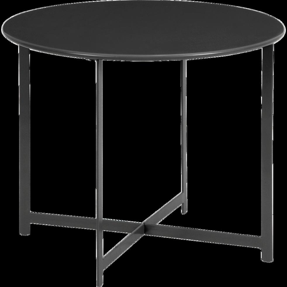 Table basse de jardin noire en acier-RETRA