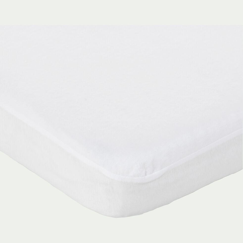 Protège matelas 90x140cm imperméable en coton pour lit évolutif - bonnet 15cm-Nina