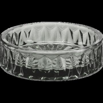 Coupelle en verre gris D9,4cm-Migno